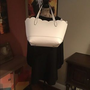 NWT Crown and Ivory Madison leather scallop tote